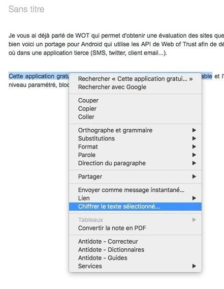 Comment chiffrer un texte (le protéger par mot de passe) dans Evernote ? « | Evernote, gestion de l'information numérique | Scoop.it