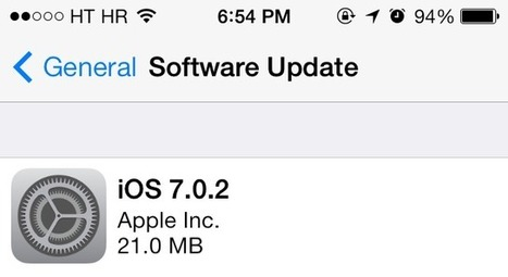 Apple releases iOS 7.0.2 fixing Lock screen security vulnerability | Best iPhone Applications For Business | Scoop.it