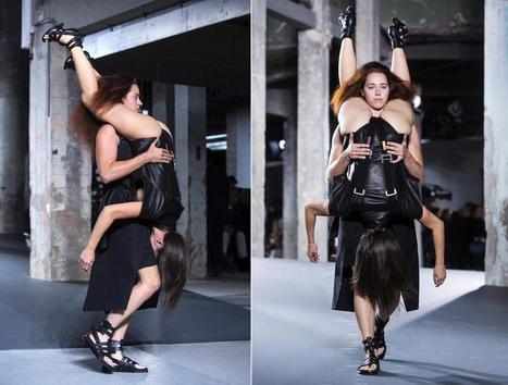 Rick Owens runway show at Paris Fashion Week  - Photos - Rick Owens' models wear other models on the runway | LibertyE Global Renaissance | Scoop.it