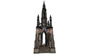 Scott Monument by 卡爾文 - 3D Warehouse | 3D Model | Scoop.it