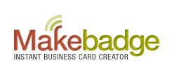 MakeBadge | Crea tarjetas de presentación en línea, sin registro y rápidamente. | MLKtoSCL | Scoop.it