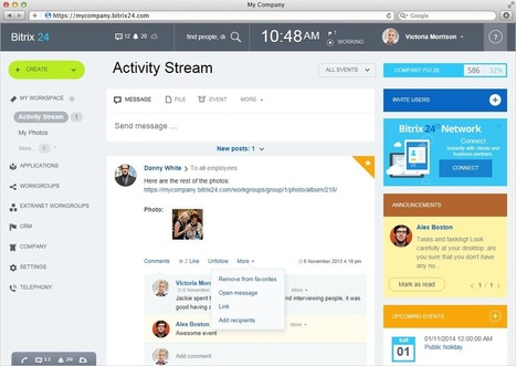 Bitrix24: Free collaboration software | Collaboration in Online Courses | Scoop.it