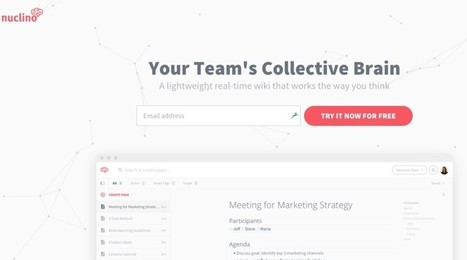 Nuclino. Wiki pour le brainstorming et le travail collaboratif - Les Outils Collaboratifs | Les outils du numérique au service de la pédagogie | Scoop.it