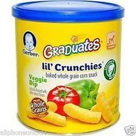 Gerber Graduates® Lil' Crunchies Baked Whole Grain Corn Snack-Imported 42g Pack | Imported food Items | Scoop.it