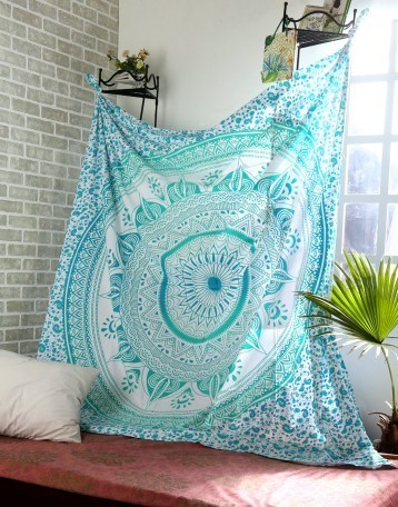 Cotton Green Printed Mandala Tapestry | Fashion & Accessories | Scoop.it