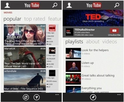 YouTube: L'app ufficiale per Windows Phone 8 non sarà rimossa e ... - Plaffo | Scoop Social Network | Scoop.it