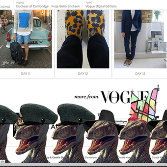 Thanks to Hacker, Vogue UK's New Fashion Rage: Dinosaurs in Hats - Core77.com (blog) | Fashion | Scoop.it