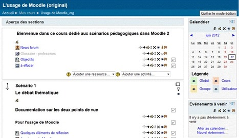 Manipulations de base | Scénarios Moodle 2 | Time to Learn | Scoop.it