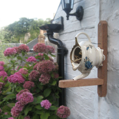 From a teapot to a bird house | Upcycled Garden Style | Scoop.it