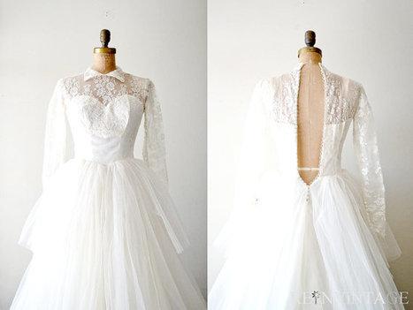 vintage 1940s wedding dress | Dresses | Scoop.it