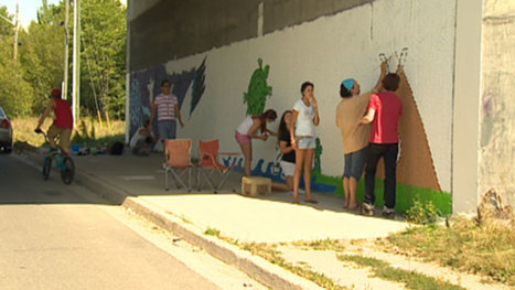 Art to cover racist graffiti at Fredericton reserve - CBC News | AboriginalLinks LiensAutochtones | Scoop.it