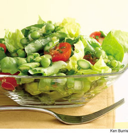 Green Salad With Asparagus & Peas Recipe | Healthy Living - Recipes, exercise and more... | Scoop.it