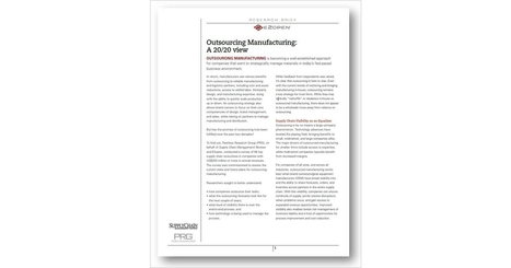 Outsourcing Manufacturing: A 20/20 View | Supply chain News and trends | Scoop.it