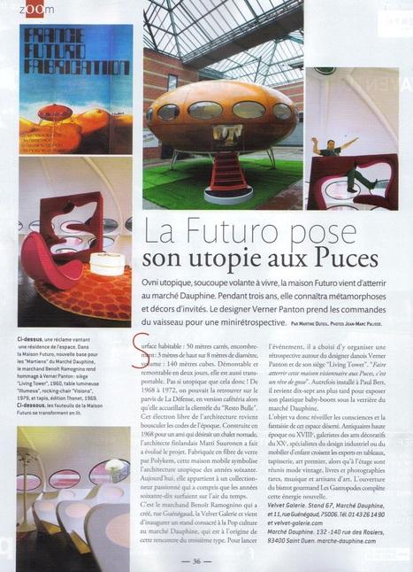 La maison Futuro , marché Dauphine , puces de S... | Dealers Events:Les événements des marchands ,Marché Dauphine ,Paris | Scoop.it