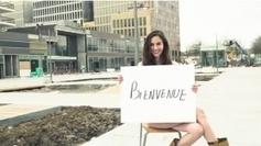 Une jeune femme dénudée sur un chantier : la drôle de pub des Rives de l'Orne à Caen (14)...!!!   malikaaa   Scoop.it