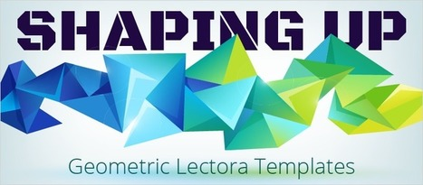 Shaping Up: Geometric Lectora Templates - eLearning Brothers | eLearning Templates | Scoop.it
