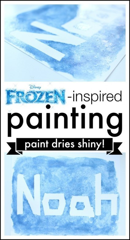 Frozen-inspired Painting - I Can Teach My Child! | Learn through Play - pre-K | Scoop.it