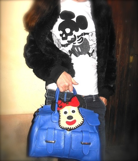 THE FASHIONAMY by Amanda: Idea Outfit: Black Dog, Black Fake Fur, Weird Mickey Mouse | fashion jewelry | Scoop.it