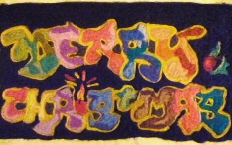 Merry Christmas from LubyArt! Media: Needle Felting #graffiti #felt #textiles #art | Helene Michau Créations | Scoop.it