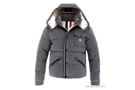 Moncler Men Brason Down Jacket Grey Nylon | share list | Scoop.it