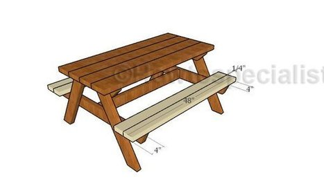 Kids picnic table with sandbox | Garden Plans | Scoop.it