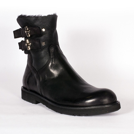 Cesare Paciotti Mens Shoes Black Leather Boots | fashion | Scoop.it