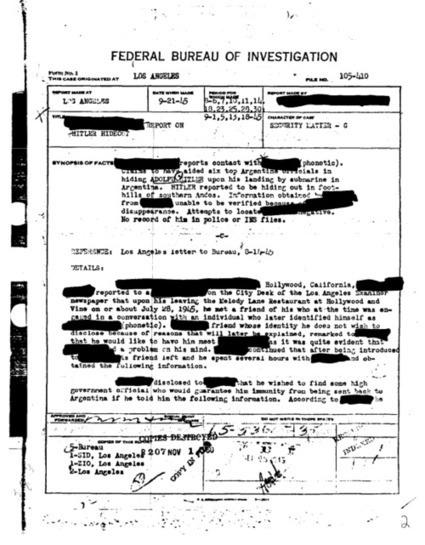 FBI: Hitler Didn't Die, Fled To Argentina – Stunning Admission –...   Apathy Kills   Scoop.it