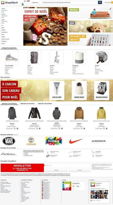 ShopAlike change de look pour les fêtes de fin d'année ! | Le Blog Iziflux, solution d'export catalogues produits | Comparateurs et marketplaces | Scoop.it