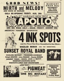 Primary Document 2: Apollo Invitation | The Harlem Renaissance: 1920s Evolutions | Scoop.it
