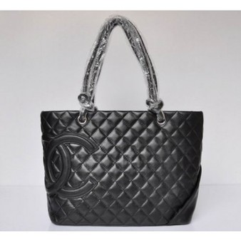 Chanel Cambon Bag 9005 Black Lambskin And Black CHANEL Logo Perfect present | Hot Chanel Bags Outlet Sale | Scoop.it