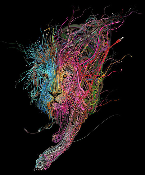 Complex Illustrations Formed with Tangles of Colorful Wires | Computational Design | Scoop.it