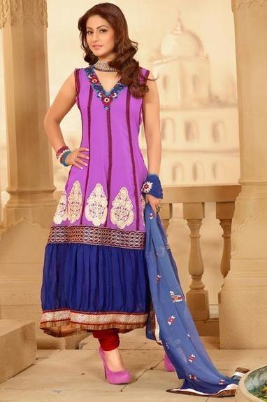 Icon Purple Churidar Kameez Set [Man15198] - Rs.3232 : Salwar Kameez,Designer Salwar Kameez, Designer Sarees, Designer Sarees, Wedding Lehengas, Indian Sarees Online store   Salwar Kameez   Scoop.it