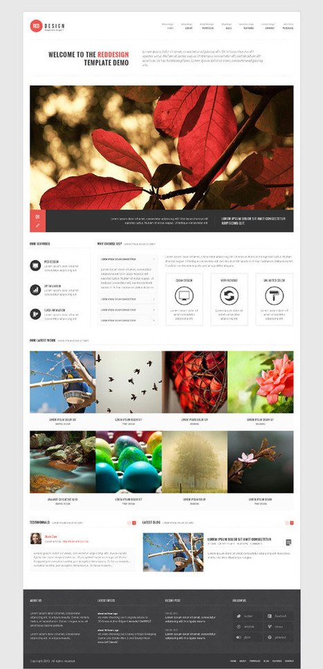 RedDesign, Drupal 7 Responsive Bootstrap Business Theme | Premium Download | Premium Joomla Templates Download | Scoop.it