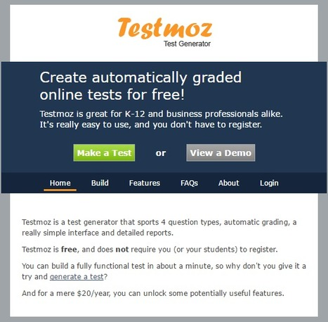 Testmoz - The Test Generator | elearning stuff | Scoop.it