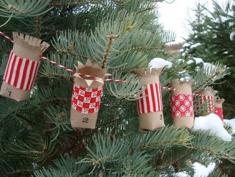 10 Christmas crafts projects made out of toilet paper rolls - Recyclart | DIY | Scoop.it