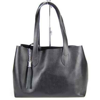 –>   MADE IN ITALY Damen Handtasche, Bag in Bag Shopper, Echtleder, schwarz | Clutch Bags Online | Scoop.it