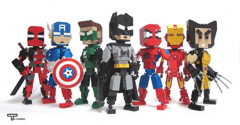 Une artiste rend hommage aux icônes emblématiques de la pop culture à travers d'incroyables figurines LEGO   Pèle-mêle   Scoop.it