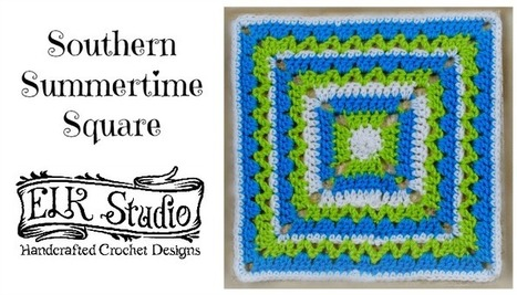 Southern Summertime Square by ELK Studio | Just Crochet | Scoop.it