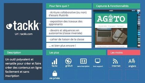 Tackk   Les outils pour la classe   DNL & TICE   Scoop.it