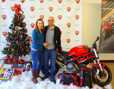 """""""The Ultimate Ride"""" Monster 696 Tumi contest   Ducati Austin   Matt and Kim Lewis win the Tumi Monster 696 + ABS   Ductalk Ducati News   Scoop.it"""
