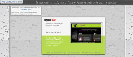 L' E carte de visite web et internet pour auto-entrepreneur pour une bonne communication | astuces web et communication par arret net .fr | Scoop.it