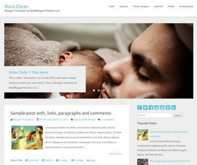 Rara Clean Blogger Template | Blogger Templates | Scoop.it