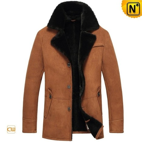 CWMALLS® Men Sheepskin Shearling Jacket CW851255 | Fur Lined Mens Coat | Scoop.it