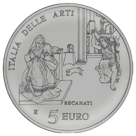A 5 Euro silver coin honors the artistic contributions of Recanati in the Marche region. | Le Marche another Italy | Scoop.it