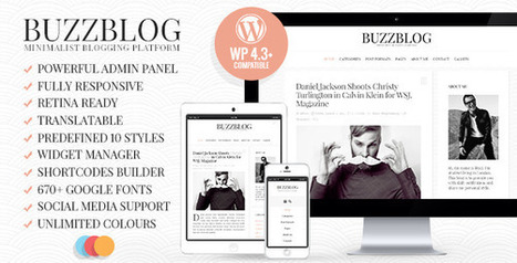10 Most Popular Blog and Magazine WordPress Themes Collection | Collection of creative themes and templates. | Scoop.it