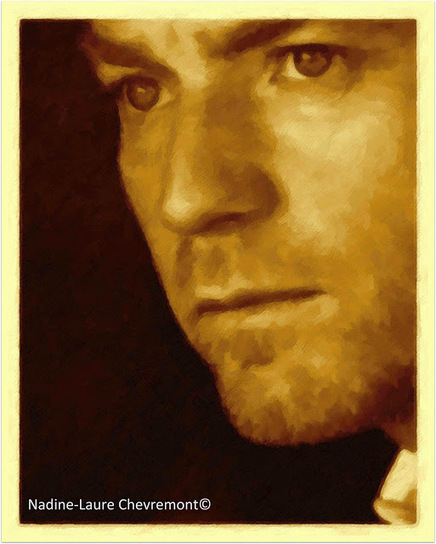 Ewan Mcgregor sublime amber Portrait NLCART | NLC BY NADINE LAURE CHEVREMONT | Scoop.it