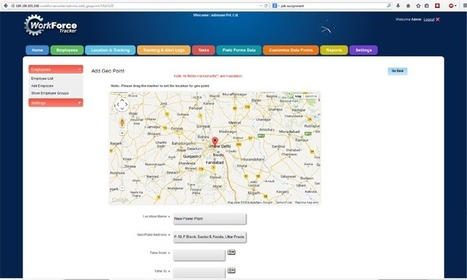 Real Time Tracking of Employee Locations | Workforce tracker | Scoop.it
