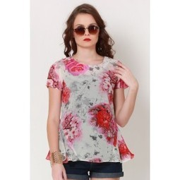 Red Floral Grace Peplum Top   Online shopping for women   Scoop.it