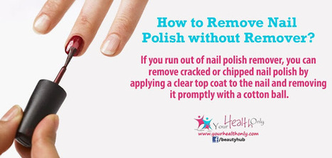 How to Remove Nail Polish without Remover? | Your Health Only - Health, Beauty, Fitness, Tips & more. | Beauty Tips | Scoop.it