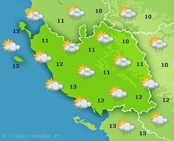 Vendée : Climat-Vendée, prévisions météo | Agriculture en Pays de la Loire | Scoop.it
